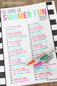 Summer Fun Chart Free Printable The Crafting Chicks