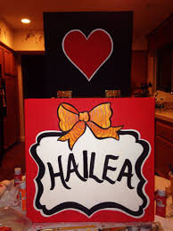 Cheer Box Designs Cheer Box I Made For My Cousin Hand Painted All Free Hand