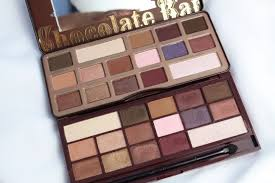 too faced chocolate bar eyeshadow palette vs makeup revolution i heart eye shadow palette in i