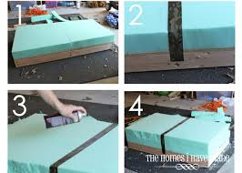 upholstered coffee table with shelf how to make an oversized ottoman tutorial the homes i have made diystuffedottoma home u003e