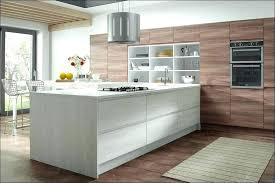 White Slab Kitchen Cabinet Doors Painted High Gloss Slab Kitchen