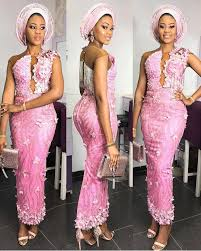 Lace African Dresses Design 2018 Ezinnefashionstyles Aso Ebi Lace Styles African Fashion