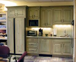 Distressed Kitchen Cabinets Unexpected Pop Of Color Kitchen Cabinets Green Cabinets