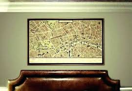 large map wall art large wall map grand map of canvas print in hotel large wall large map wall