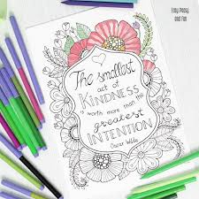Kindness Quote Coloring Page Easy Peasy And Fun