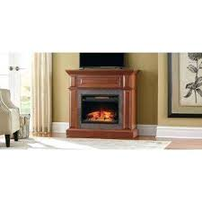 mantel console infrared electric fireplace in medium cherry finish home depot fake n
