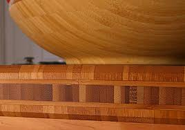 bamboo countertop edge detail