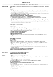 Mental Health Tech Resume Samples | Velvet Jobs