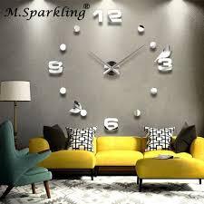 clock watch novel bird and natural wall clock design 3d diy large decorative wall clocks watch