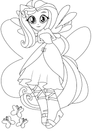 Small Picture Equestria girls fluttershy coloring pages ColoringStar