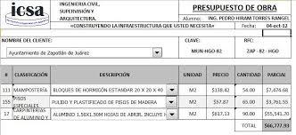 06 Presupuesto De Obra Ing Pedro Hiram Torres Rangel