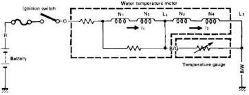 temperature gauge circuit diagram wiring diagrams a typical water temperature sensor circuit diagram in motorcycle