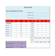 Free Printable Timesheets For Employees Gorgeous 48 Free Timesheet Time Card Templates Template Lab