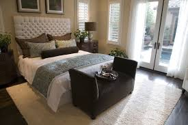 white bedroom with dark furniture. Bedroom Dark Furniture And Light Walls White Side Table Elegant Black Platform Bed Brown Pillow Floral With