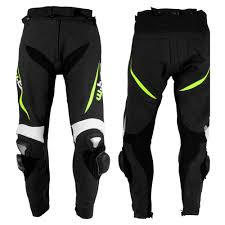 moto pants mens. men\u0027s leather moto trousers w-tec vector - black-yellow pants mens