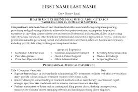 Unit Secretary Resume Sample Sarahepps Com