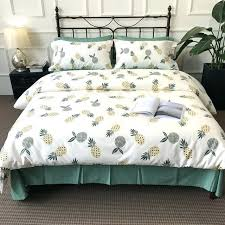 green and white duvet cover fruits pineapple bedding sets quilt pure bed sheets pillowcases comfortable 4 green and white duvet cover