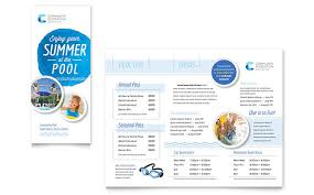Pool Word Community Swimming Pool Brochure Template Word Publisher