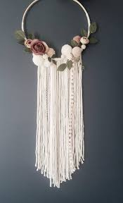 Dream Catcher Baby Shower Decorations Dream Catcher Boho Wall Hanging Floral Wreath Wall Hanging 80