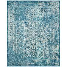 safavieh evoke blue ivory 8 ft x 10 ft area rug