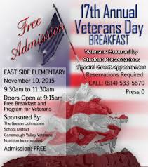 students honor learn about veterans at annual breakfast success  veterans day flyer and essay