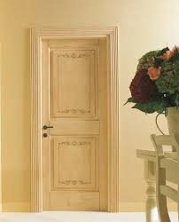 DUCALE 1112/Q Craquelure finish with Leaves decoration Ducale Classic Wood Interior  Doors |