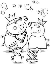 Small Picture Peppa pig coloring pages and family ColoringStar