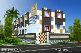 house design 20 x 45. way2nirman 100 sq yds 20x45 ft west face house 1bhk elev 20 x 45 plans design