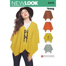 Poncho Sewing Pattern Enchanting Misses Easy Poncho And Cape New Look Sewing Pattern 48 Sew Essential