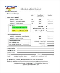 Advertising Contract Templates Free Word Format Download Template ...