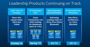 Intel Cpu Comparison Chart 2016 Intels 6th Generation Skylake Processors Scheduled For 2h