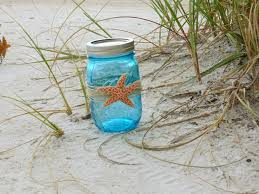 Decorative Fish Netting Wedding Decor Blue Mason Jars Fish Net Sugar Starfish