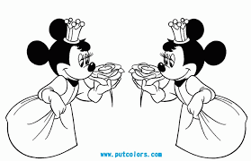 Disney Princess Minnie Mouse Coloring Pages Kids Coloring Pages