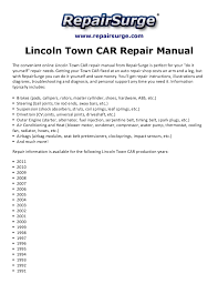 lincoln town car repair manual 1990 2011 repairsurge com lincoln town car repair manual the convenient online lincoln town car