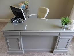 finished office makeover. Attractive Gray Office Desk Intended For Desks At Depot Finished Makeover