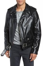 658309000049 men s schott nyc perfecto slim fit waxy leather moto jacket