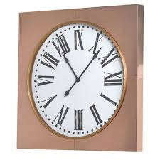 large copper frame wall clock from just