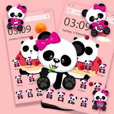 Free Pink Panda Cute wallpaper lock ...