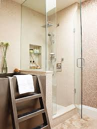 a glass enclosure makes any shower feel roomier by opening up the view and allowing in sunlight it can also make a small bath appear larger because the