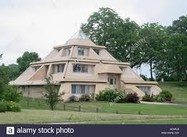 Pyramid Houses Pyramid House Clear Lake Iowa Stock Photo Royalty Free Image