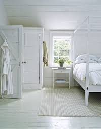 love a white painted floor.