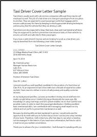 Driver Cover Letters Great Sample Resume Taxi Driver Cover Letter Sample