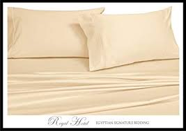 olympic queen bed. Wonderful Olympic Royalu0027s Solid Ivory 300ThreadCount 4pc Olympic Queen Bed Sheet Set 100  Intended W