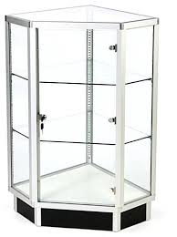 glass cabinet small display with lock