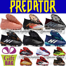 new arrivals high ankle football boots predator 18 1 fg leather soccer shoes mens firm ground outdoor predator football shoes soccer cleats womens ankle