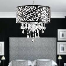 4 light drum chandelier white shades