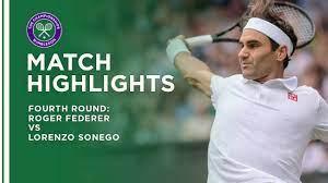 Roger Federer vs Lorenzo Sonego ...