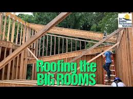 Framing A Big Roof With I Joist Rafters Youtube