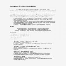Long Term Substitute Teacher Resume Interesting Long Term Substitute Teacher Resume Inspirational Resume Lesson Plan