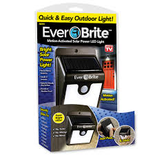 Ever Brite Lights Reviews Ever Brite Light Solar Powered Outdoor Led Motion Sensor Path Security Light As Seen On Tv Walmart Com